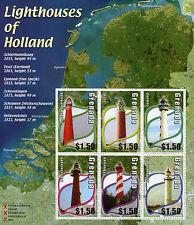 Sheet Grenadian Architecture Postal Stamps