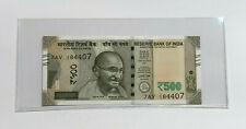 2018 India 500 Rupees Note Uncirculated, Gandhi, Consecutive Serial Numbers