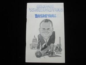 1967-68 George Washington University Basketball Media Guide EX+
