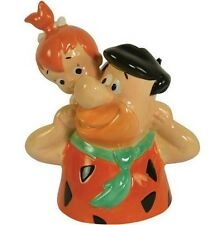 Hanna-Barbera The Flintstones Fred & Pebbles Piggy Back Bank Ceramic Westland