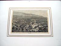 1892 GRANDE VEDUTA CON PANORAMA DI VITTORIO VENETO CON PASSE PARTOUT