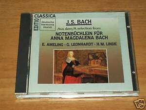 CD -J.S.BACH-QUADERNETTO PER ANNA BACH-Harmonia Mundi