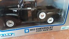 1953 Chevrolet 3100 Pick Up 1/24 die cast  truck Black by Welly -Medal