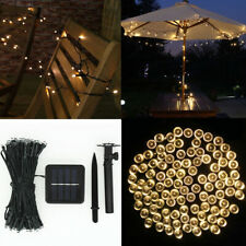 LED Solar Power Fairy Light Wire String Lamp Party Christmas Wedding Decor