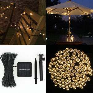 LED Solar Power Fairy Light Wire String Lamp Party Christmas Wedding Decor