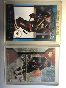 00/01 Marian Gaborik Rookie RC Lot Of 2 Precious Gems /1999 Premier Plus Wild