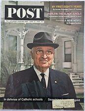 SATURDAY EVENING POST Jun 13 1964 * Harry Truman * Catholic Schools * Harlem