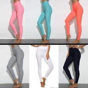 Ladies Honeycomb Anti-Cellulite Leggings Gym Trouser Women High Waist Yoga Pants