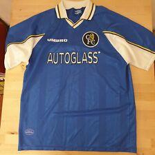 CHELSEA 1997 - 99 Home Football short sleeve Shirt Vintage autoglass UMBRO