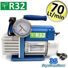 3S POMPE A VIDE professionnel FRIGORISTE 70 Lt/min avec vacuomètre pour GAZ R32