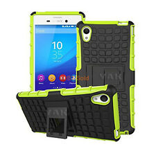 Shockproof Heavy Armour Hard For Sony Xperia Z5 Premium Case Cover With Stand