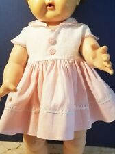 """American Character Tiny Tears Original Pink & white Dress For  16"""" doll"""