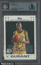 Kevin Durant Signed 2007 Topps Basketball #2 RC Rookie BGS Authentic AUTO