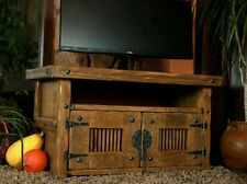 TV Unit Stand Storage Rustic Cottage Wooden Handmade Book Cupboard 7A
