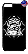 Mason Eye Illuminati Rubber Case Cover For iPhone 11 Pro Max Xs XR 8 Plus 7