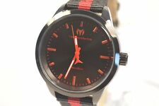 Technomarine TM-117008 Moonsun Black Dial Nylon/Leather Stripe Strap Watch