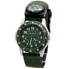 New Army Green Canvas Strap Compass Quartz Casual Men Boys Sport Military Watch