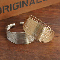 Charm Women Multilayer Adjustable Wide Style Cuff Bracelet Bangle Gift Jewelry