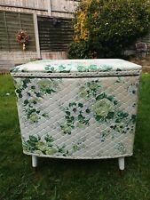Kraft Lloyd Loom Quilted Ottoman Storage Seat 1950's/60's Bedroom