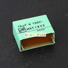 2PCS 10uF 100V ERO MKT 1822 Metallized Polyester Film audio Capacitors #G2945 XH