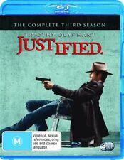 Justified : Season 3 (Blu-ray, 2013, 3-Disc Set)