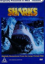 Search For The Great SHARKS - IMAX - Blue - Whale - White - DVD (NEW SEALED)
