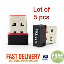 Lot of 5 Mini USB WiFi WLAN Wireless Network Adapter 802.11 Dongle RTL8188 PC