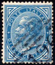 Regno d'Italia 1877 Effigie cent 10 azzurro usato