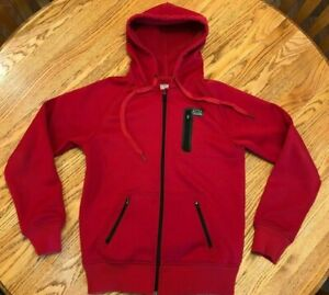 Mens FOX RACING Full Zip Hoodie - Red - Small - Same Day Shipping!