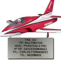 Placa Avion RC Chapa Aluminio Identificacion Grabada GoolRD Jarama Graupner