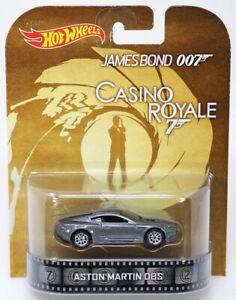 ASTON MARTIN DBS CASINO ROYALE JAMES BOND 007 HOT WHEELS RETRO DIECAST 1/64