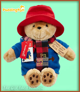 PADDINGTON BEAR WITH SCARF 60TH ANNIVERSARY PLUSH SOFT TOY WITH SCARF BNWT GIFT