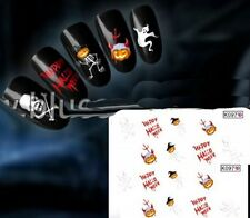 NB268 NAGELSTICKER HALLOWEEN Teufel Totenkopf Skelett Schädel watertransfer ...
