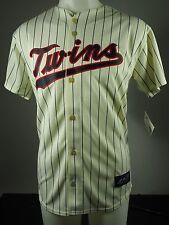Minnesota Twins Official Majestic MLB Joe Mauer 7 Youth Cream Alternate Jersey