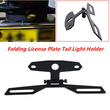 Adjustable Motorcycle Flip Up License Plate Eliminator Bracket Tail Light Holder