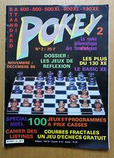 Magazine Atari Pokey n°2 remplacement atarien nov dec 86