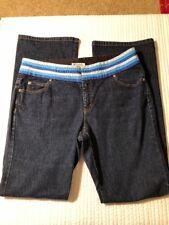 Michael Kors 10 Denim Jeans Shades Of Blue Ribbon Waist - Very Cool - 32 Inseam