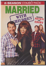 MARRIED WITH CHILDREN (UNCUT) SEASONS 7 & 8 (DVD,2015,4-Disc,Slim Line Case) NEW