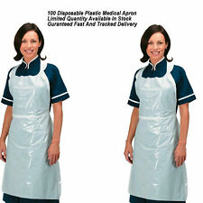 White Plastic NHS Quality Disposable Medical Aprons Healthcare Body Protect New