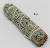 "Blue Sage Smudge Stick 4-5 "" (Herb, Remove Negative Energy, Smudge Bundle)"