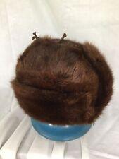 Vintage MINK FUR HAT, Russian Ushanka Ear Flaps, Soviet Era Authentic
