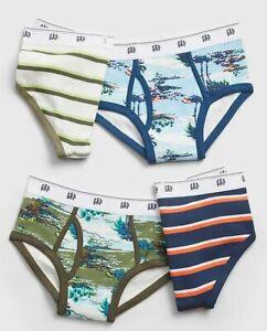 New Gap Kids Boys 4 Pack Classic Briefs Underwear S M L XL XXL Tropical Stripes