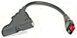 POWAKADDY T-BAR - RED/BLACK ANDERSON TORBERRY CONNECTOR LEAD - 400mm LONG