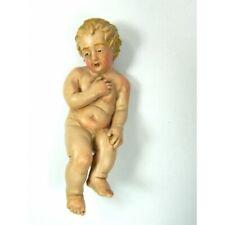 Gesù Bambino Dipinto per Pastori Cm35/40 Bimbo Bambinello Natività Presepe