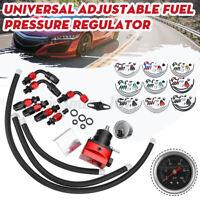 Kraftstoffdruckregler Benzindruckregler einstellbar mit 100Psi Gauge AN6 Set