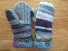 Handmade Wool Mittens from Upcycled Sweaters-Fleece Lined