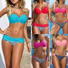 Mujer Set De Bikini Push-up Sujetador Con Relleno Bañador Ropa baño traje WOW*~