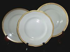 LIMOGES FRANCE THEODORE HAVILAND DINNER LUNCHEON PLATES WHITE GOLD 3 assorted
