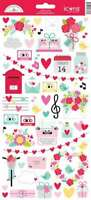 "Doodlebug Cardstock Stickers 6""X13"" Love Notes Icons 842715066069"