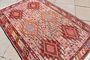 1990's Never Been Used Caucasian Kilim Rug Oriental Shahsavan Soumak Kilim Rug